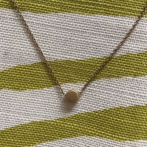 DOGEARED Circle Necklace (gold dipped)